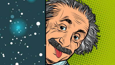 Datorgrafik föreställande Albert Einstein.