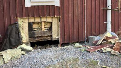 Brandskada vid folkets hus i Hammars i Borgå 26.07.21