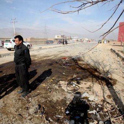 Två amerikanska soldater dog i en vägbomb i Bagram i Afghanistan den 12 december 2014.