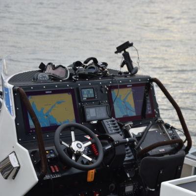 Gränsbevakningens nya RIB båt.