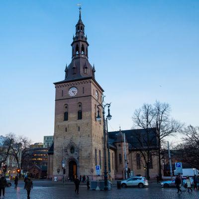 Oslo domkyrka dagen innan Ari Behn ska begravas.