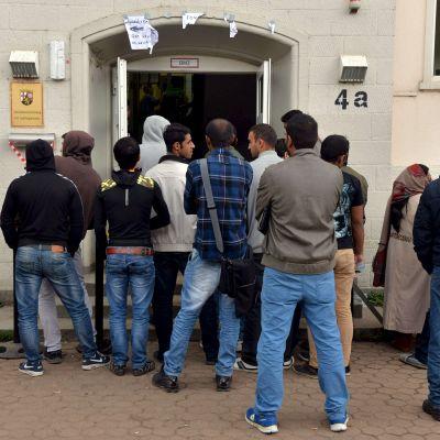 Flyktingar som söker asyl i Tyskland.