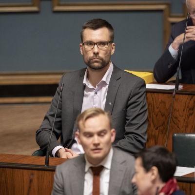 Johan Kvarnström i riksdagen.