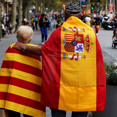 Demonstration i Barcelona 12.10.2019