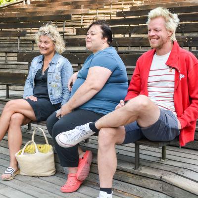 Christina Mickos, Katarina Nikkanen och Lasse Candé