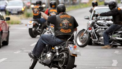 Tyska medlemmar av motorcykelklubben Bandidos