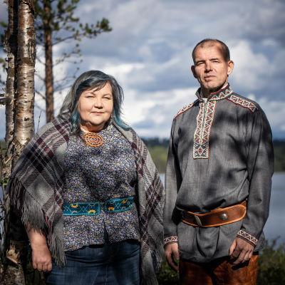 Hanna-Maaria Kiprianoff ja Veikko Feodoroff kolttien luottamusmiesvaalit 2020.