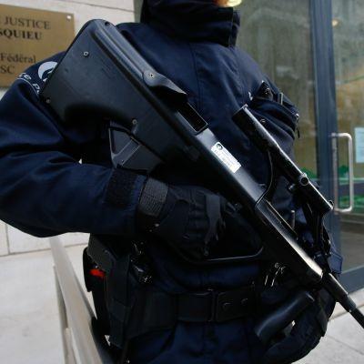 Belgisk polis i Bryssel.