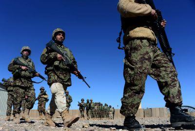 Afghanska soldater tränas av italienska Natosoldater 9.2.2017