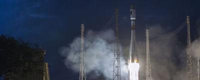 Rysk Sojuzraket skjuts upp med Galileosatelliter ombord 2015.