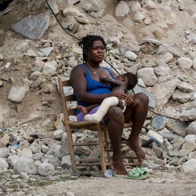 Haitia runteli tuhoisa maanjäristys runsas viikko sitten