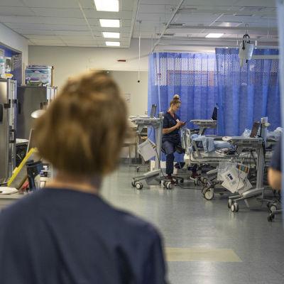 Etelä-Karjalan keskussairaalan leikkausosaston heräämö.