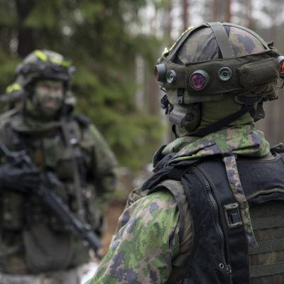 Soldater i skogen.