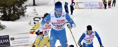 Alexander Ståhlberg åker under FM på skidor 2021.