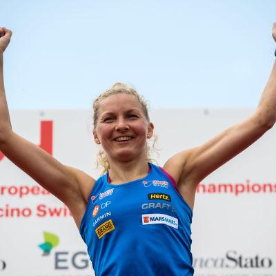 Marika Teini vann EM-guld på medeldistans år 2018.