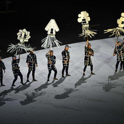 Dansare under OS-invigningen.