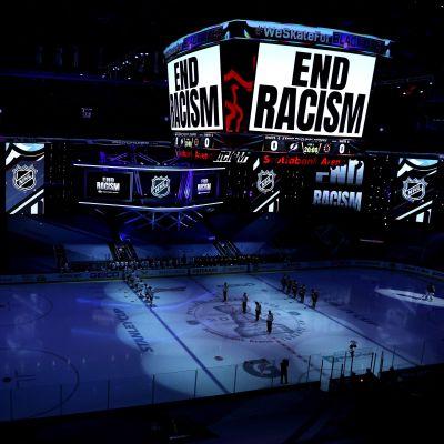 Arenan i Toronto inför matchen mellan Boston och Tampa Bay.