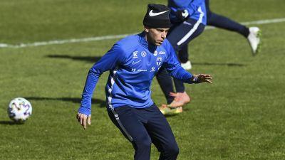 Rasmus Schüller på träning.