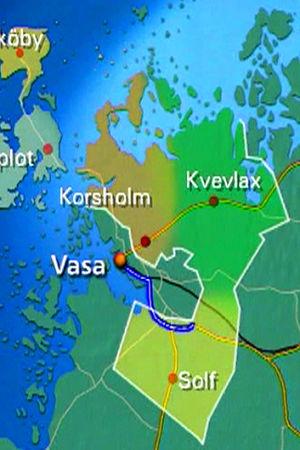 Karta över kommuner i Österbotten