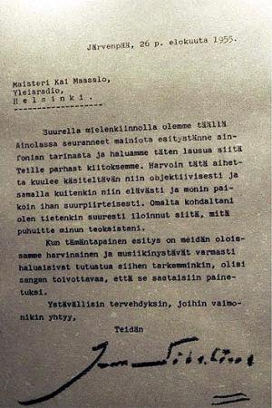 Jean Sibeliuksen kirje