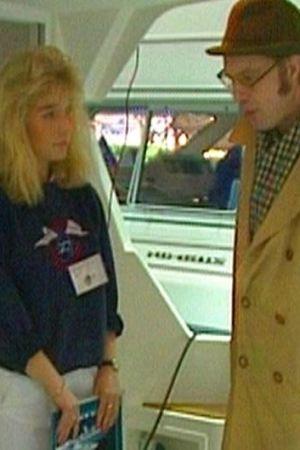 holger spår (eero wallén) på båtmässa, 1992
