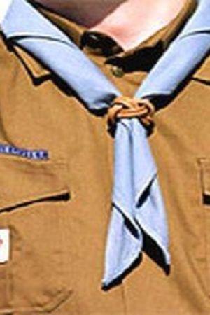 En scout med halsduk