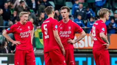 Richard Jensen och Fredrik Jensen fick spela en match tillsammans i Twente.
