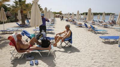 Grekisk badstrand
