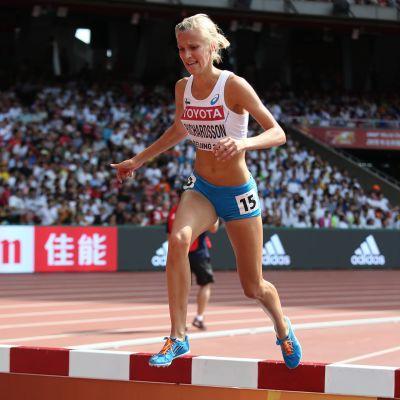 Camilla Richardsson är nöjd över att ha VM-debuterat 2015.