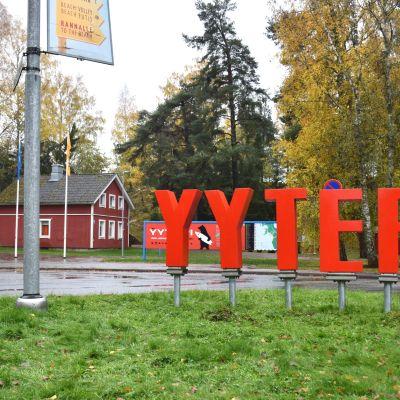 Yyteri-kyltti Yyterissä.