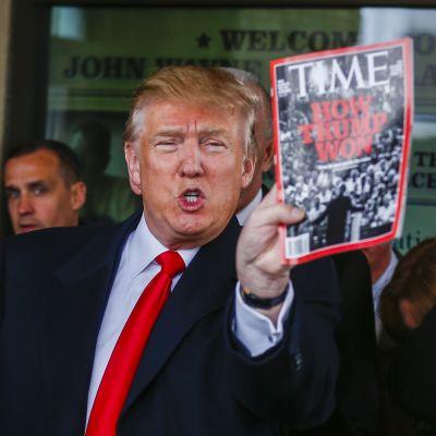 Donald Trump tycker om att vara på Times förstasida.