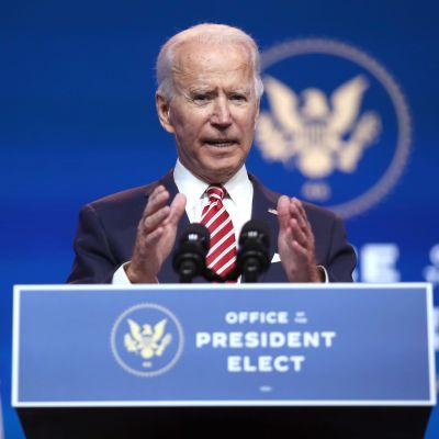 Joe Biden talar om ekonomi i Wilmington, Delaware 16.11.2020
