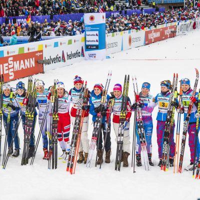 Svenskor, norskor och finskor förväntas komma in bland de tio bästa i även på damerans tremil.