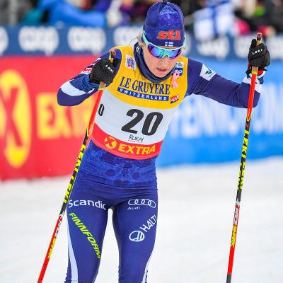 Riitta-Liisa Roponen tävlar i Seefeld.