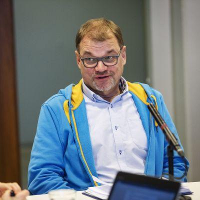 Statsminister Juha Sipilä under statsministerns frågetimme 3.3.2019.