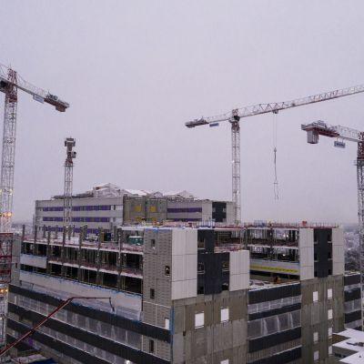 Oulun uusi yliopistollinen sairaala.