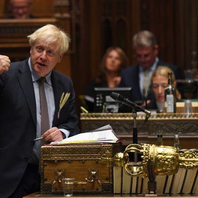 Pääministeri Boris Johnson esitteli sisämarkkinalakia Britannian parlamentissa keskiviikkona.