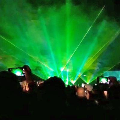 Lasershow korvasi ilotulituksen Kokkolan Venetsialaisissa.