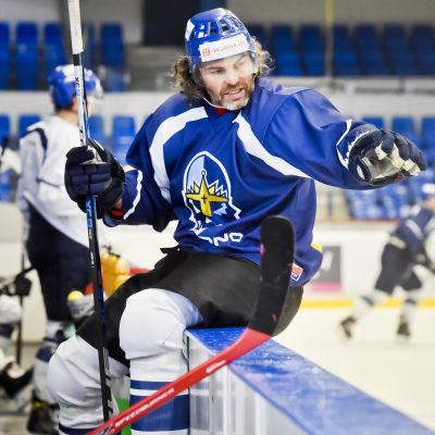 Jaromir Jagr tränar med HC Kladno i slutet av september.