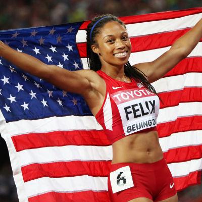 Allyson Felix, VM i Peking 2015.