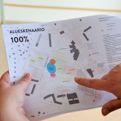 """Förslag för """"Lärodalen"""" och Västra enhetsskolan."""