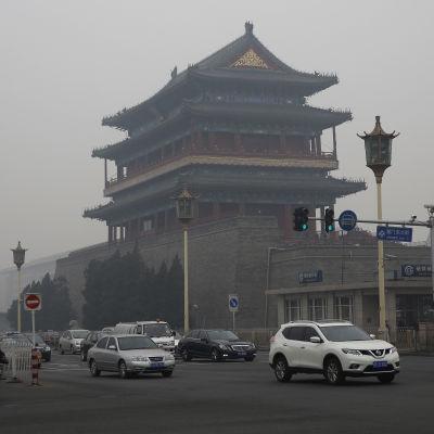 Smog i Beijing i december 2015.