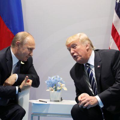 Rysslands president Vladimir Putin och USA:s president Donald Trump möttes under G20-mötet i Hamburg den 7 juli. 2017