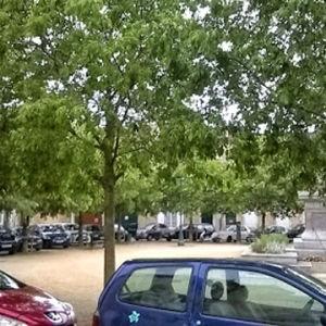 Näkymä Outi Merisalon opiskeluaikojen asunnosta Poitiers'ssa Ranskassa
