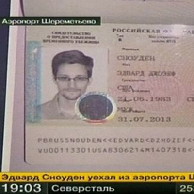 Edward Snowdens asyldokument.