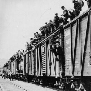 Työttömien leirille Kanadassa joutuneet protestoivat, 1935