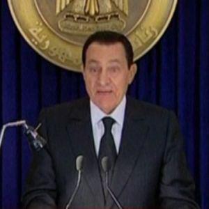 Egyptens president (soon to be ex) under sitt tal till nationen på tisdag kväll