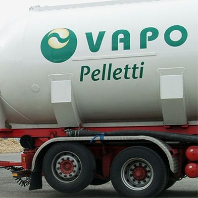 Bild av Vapos pelletlångtradare