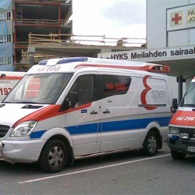 Ambulanser vid Mejlans jourpoliklinik