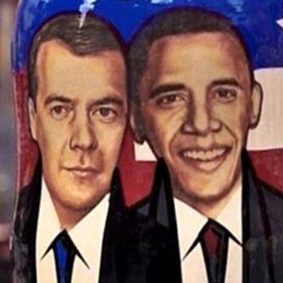 Dmitrij Medvedev och Barack Obama
